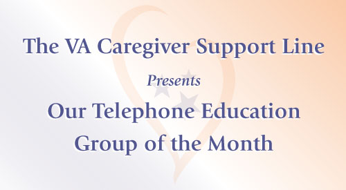 picture of the wording caregiver support line