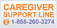 Caregiver Support Line 1-855-260-3274